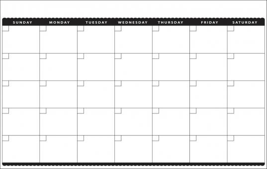 11 X 17 Blank Printable Calendars | Blank Calendar Design 2016