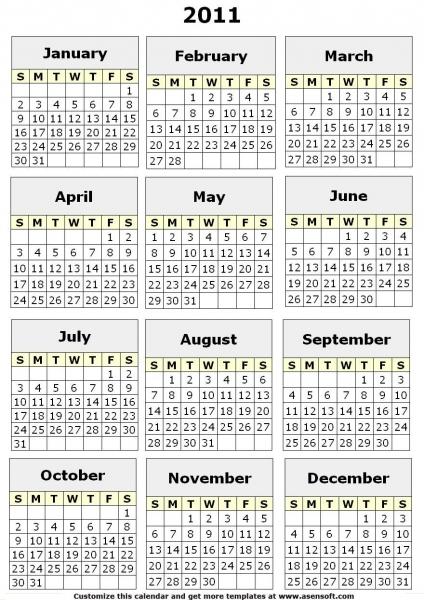 12 Best Photos Of Printable 2011 12 School Calendar   Printable