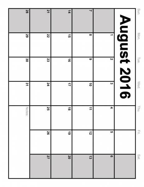 13 Best Photos Of Full Size Blank Printable Calendar   November