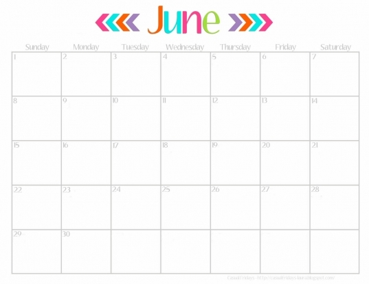 13 Best Photos Of June 2015 Calendar Cute   Cute June Calendar