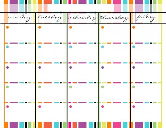 14 Best Photos Of Blank Calendar Template Monday Friday   Monday