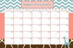 Baby Due Date Pool Calendar