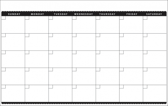 16 Best Photos Of Calendar Template 8.5 X 11   Blank Calendar Grid