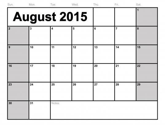 16 Best Photos Of Free 2015 Monthly Calendar Printable Pdf