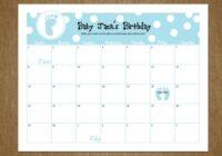 19 Best Photos Of Guess Ba Birthday Calendar   Ba Shower Guess