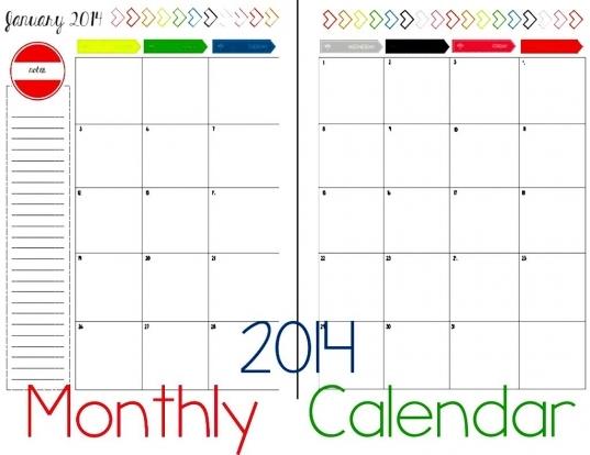 2 Page Monthly Calendar Template   Calendar Template 2016