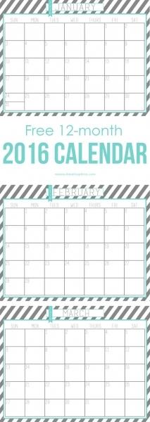 20 Free Printable Calendars For 2016   Free Printable Calendar