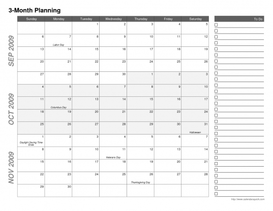 3 Month Calendar Printable | Hd Pix