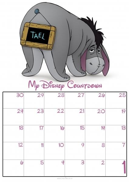 30 Day Countdown Calendar