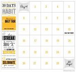 30 Day Shred Countdown Calendar