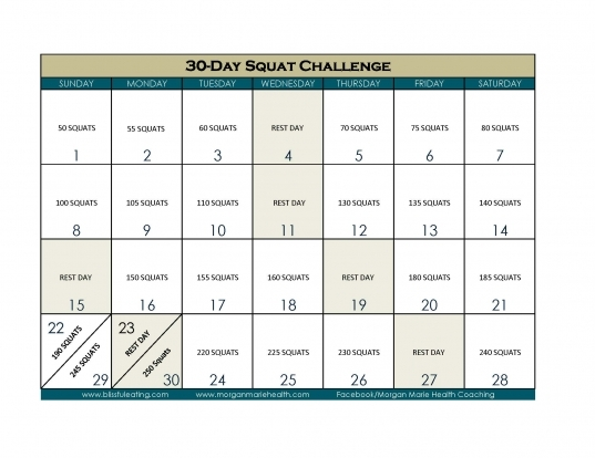 30 Day Squat Challenge – Blissful Eating