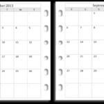 Calendar Template 2 Months Per Page