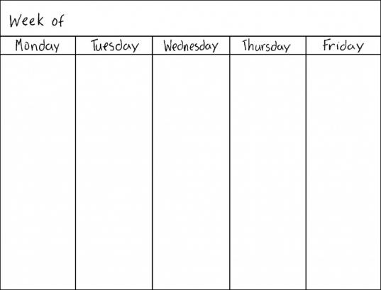 8 Best Images Of Work Week Calendar Printable   Free Printable