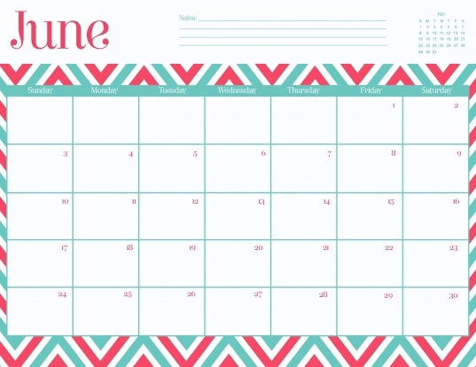 9 Best Images Of Free Printable Chevron Calendar February 2016