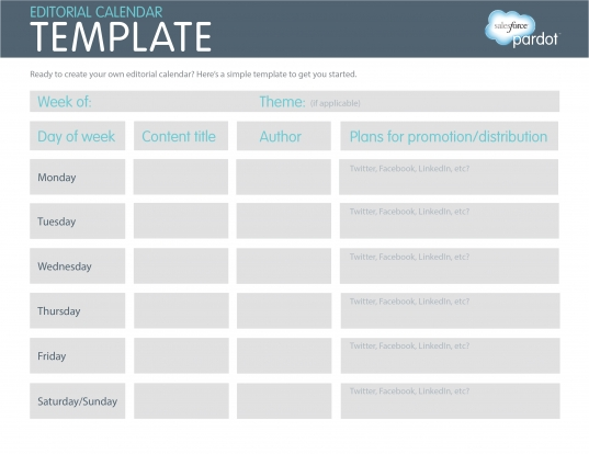 A Quick How To: Easy Editorial Calendars [template] | Pardot