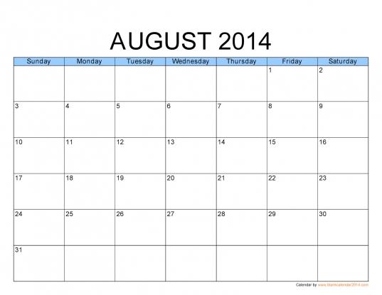 August Calendar Download — Crafthubs