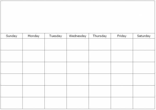 Blank Calendars To Fill In, Calendar Grids To Edit And Type On.
