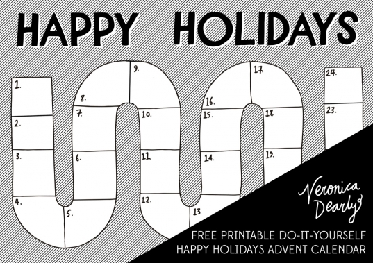 Dearly Xmas Countdown #1: Printable Holiday Happiness | Veronica