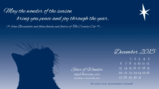 """December Featured Artwork And Desktop Calendar: """"star Of Wonder"""