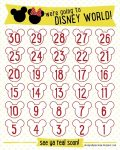 Printable Disney Countdown Calendar