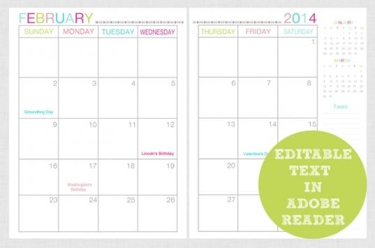 Diy Calendars Ideas   Editable 2016 2page Portrait Calendar