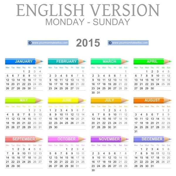Download Printable 2015 Calendar