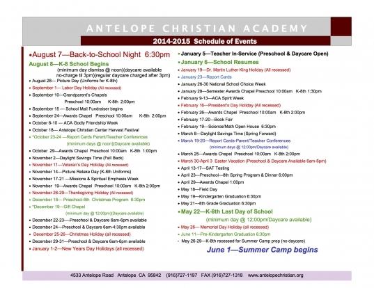Fordham University Academic Calendar 2015 16 Calendar Template