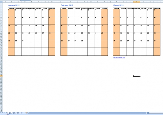 Free 2014 Excel Calendar