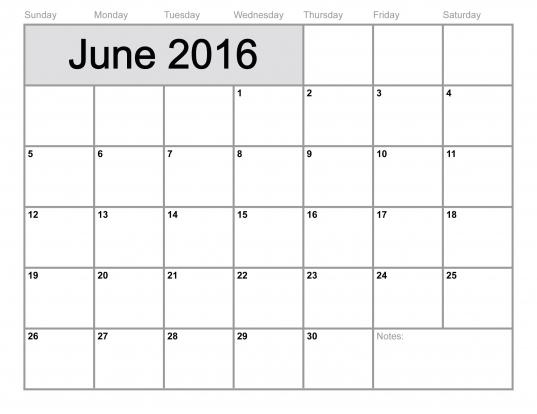 Free]* Printable Calendar Templates 2016