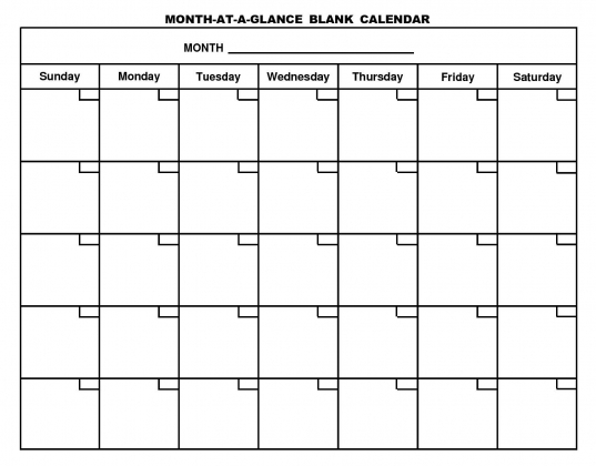 Free Printable Monthly Calendar New Blank Pdf