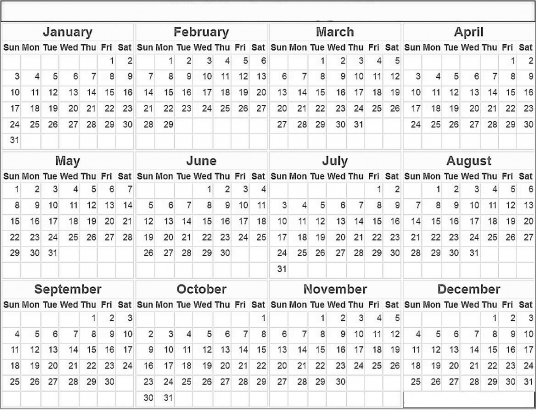 Free Printable Monthly Yearly 2016 Cute Calendar In Word & Excel
