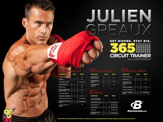 Get Ripped, Stay Big: 365 Circuit Trainer With Julien Greaux