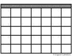 Blank Calendars To Print