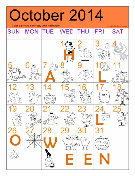 Halloween Countdown Calendar — Crafthubs