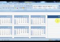 How To Create A Calendar In Microsoft Word   Youtube