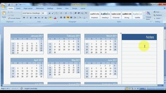 How To Create A Calendar In Microsoft Word   Youtube