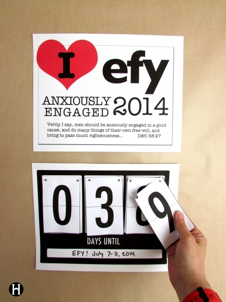 I Heart Efy Countdown Clock | The Mormon Home