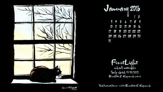 """January Featured Artwork And Desktop Calendar: """"first Light"""" ~ The"""