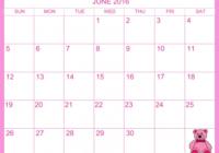 June 2016 Calendar   My Calendar Land