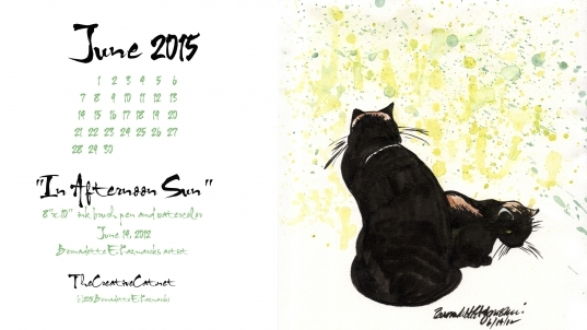 "June Featured Artwork And Desktop Calendar: ""in Afternoon Sun"