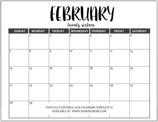 Just In: Fully Editable 2016 Calendar Templates In Ms Word Format
