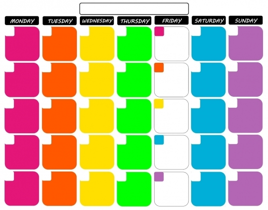 "Koolbeenz: My Free Printable Calendar 11""x14""   Tropical Colors"