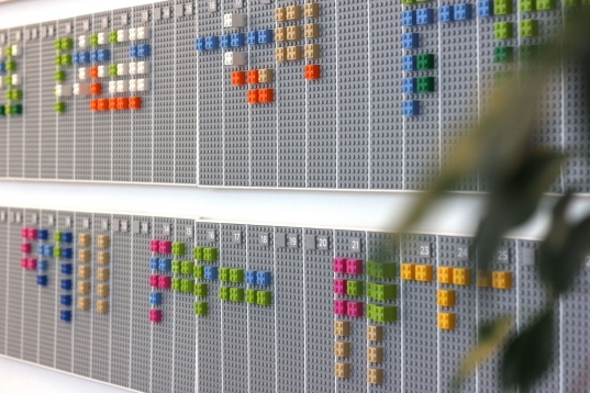 Lego Wall Planner Syncs With Your Google Calendar Account