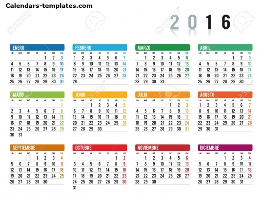 May 2016 Calendar In Spanish
