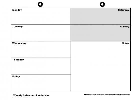 Medium Week Printable Calendar Template Sample