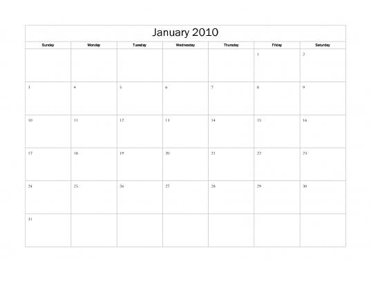 Microsoft Word Calendar Template | Toastedspecial