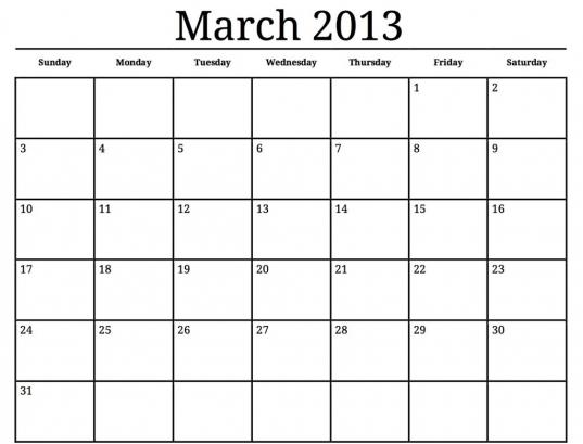 Month Calendar To Print | Blank Calendar Design 2016
