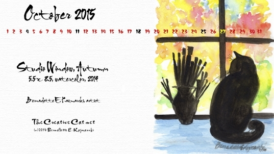 """October Featured Artwork And Desktop Calendar: """"studio Window"""