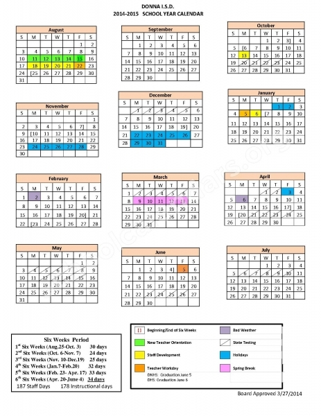 Patricia S Garza Elementary School Calendars – Donna, Tx