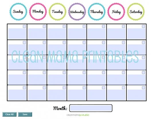 Perpetual Calendar Free Printable! — Crafthubs